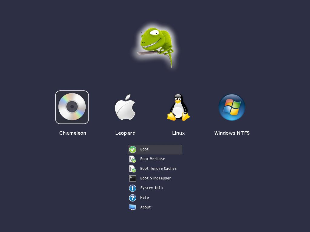 Screenshot Charmeleon Boot Loader
