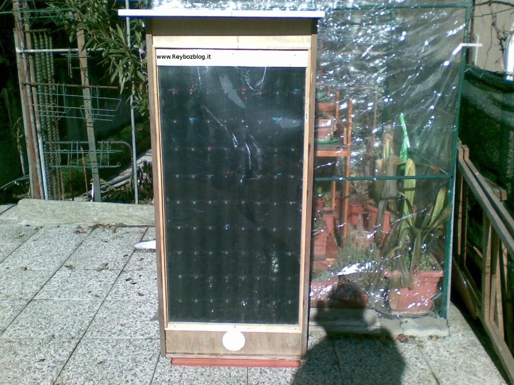 Immagine del progetto del pannello solare SolarVenti realizzato in lattine di bibite - Reyboz Blog
