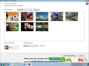 Immagine della finestra di configurazione di Windows 7 Starter Change Background - Reybozblog