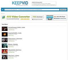 Screenshoot del rinomato servizio Keepvid per il download dei video di Youtube - Reyboz Blog