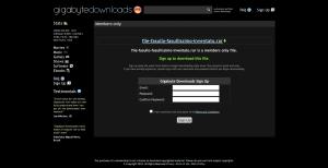 File fasullo sul sito Gigabytedownloads