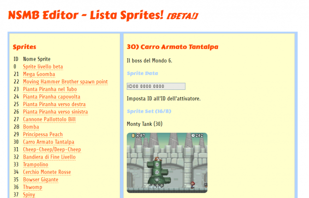 Guida Sprites in Italiano – New Super Mario Bros Editor Nintendo DS