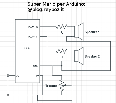 Super Mario per Arduino - Schema