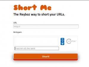 Reyboz Me è un servizio creato per accorciare i tuoi indirizzi.