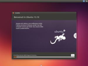 Parte dell'installazione di Ubuntu 13.10