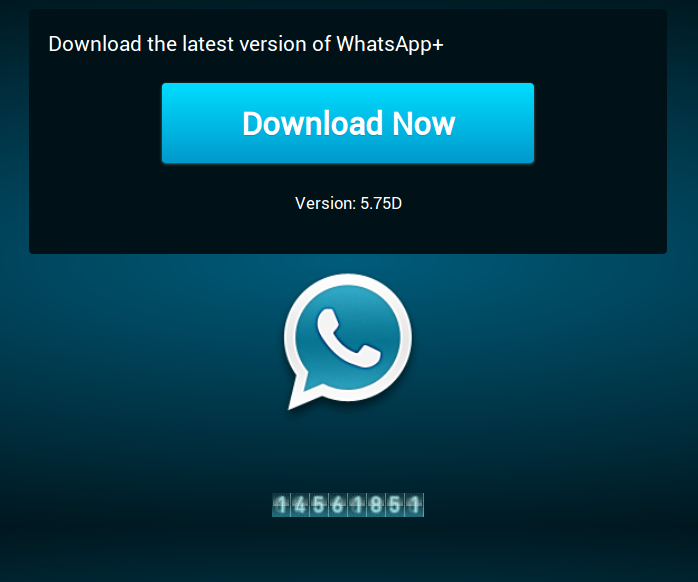 Screenshot WhatsApp Plus sito Internet